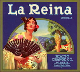 #ZLSH009 - Group of 12 La Reina Orange Crate Labels