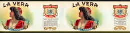 #ZLCA909 - Rare Large Double Image La Vera Cigar Can Label