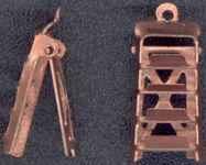 #BEADSC0081 - Copper Ladder Charm That Opens and Closes