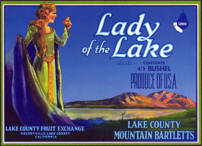 #ZLC282 - Lady of the Lake Bartletts Pear Crate Label