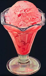 #SIGN207 - Large Diecut Diner Sign of a Sundae Glass Filled with Strawberry Ice Cream - As low as 50¢ each