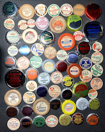 #DC229 - The Larry Johnson Collection - Group of 65 Different Milk/Dairy Bottle Caps
