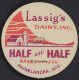 #DC107 - Lassig's Dairy Half and Half Milk Bottle Cap