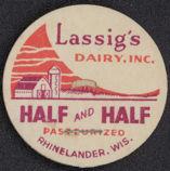 #DC107 - Lassig's Dairy Half and Half Milk Bottle Cap