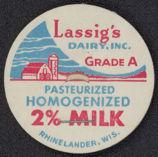 #DC106 - Lassig's Dairy 2% Milk Bottle Cap
