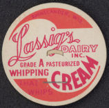#DC108 - Lassig's Dairy Whipping Cream Milk Bottle Cap