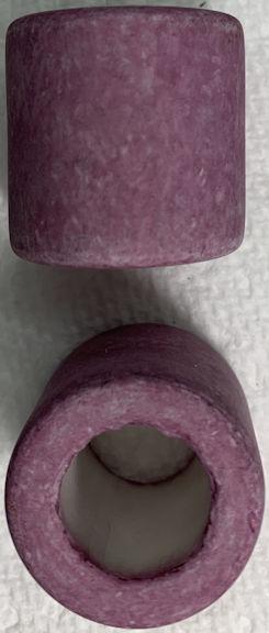 #BEADS0171 - Group of 2 Huge Lavender 26mm Japanese Ceramic Powder Big Hole Beads