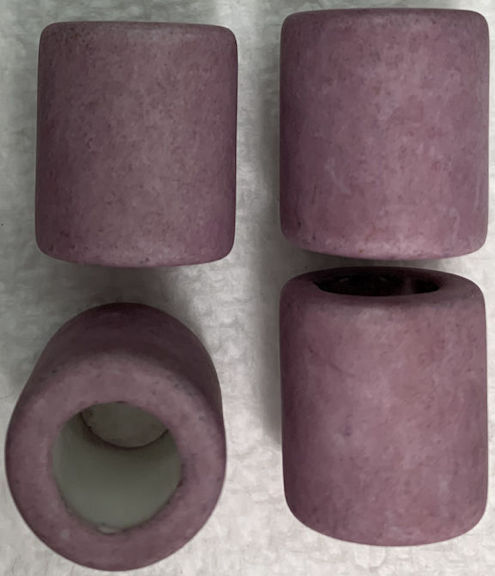 #BEADS0172 - Group of 4 Lavender 17mm Japanese Ceramic Powder Big Hole Beads