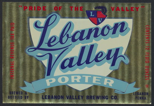 #ZLBE101 - Lebanon Valley IRTP Beer Bottle Label - As low as 35¢ each