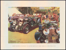 #MS276- 1929 Super-Charged Le Mans Bentley and 1926 3 Litre Bentley Wootton Print - As low as $5 each