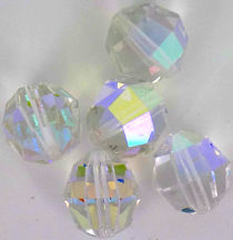 #BEADS0571 - Huge Multifaceted Highly Polished Aurora Borealis Glass Crystal Bead - As low as 30¢ each