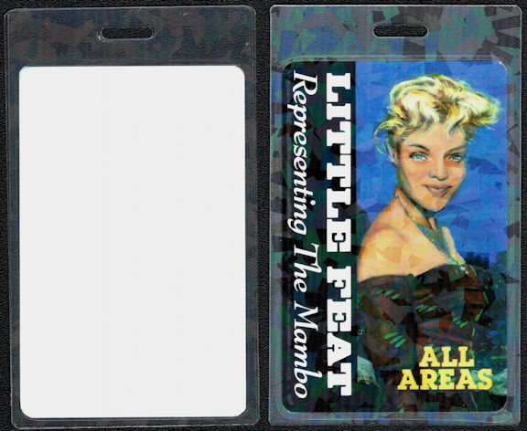 ##MUSICBP0702 - Little Feat OTTO Laminated Backstage Pass from the 1990 Representing the Mambo Tour