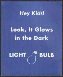 #SIGN220 - Group of 4 Vending Machine Signs for Glow in the Dark Light Bulb Charms