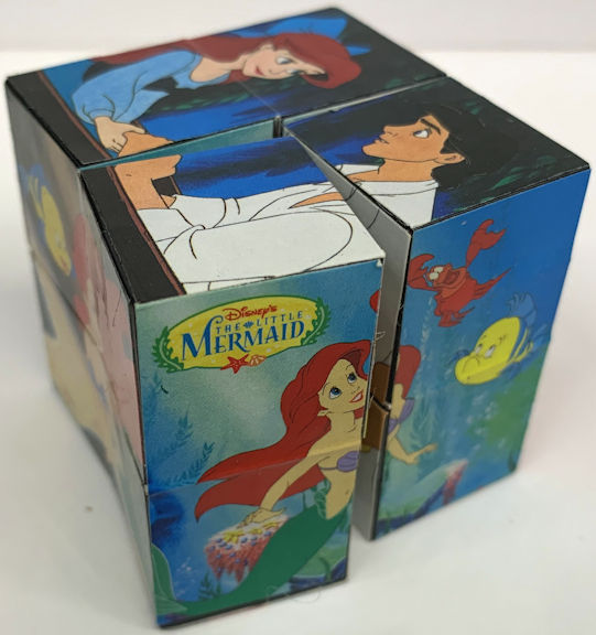 #CH460  - Disney Little Mermaid Cube Puzzle - Applause