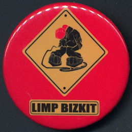 ##MUSICBG0100 - Licensed Limp Bizkit Button - As Low at 50¢ each