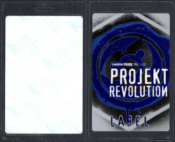 "##MUSICBP0570  - Linkin Park ""Label"" Laminated Perri Backstage Pass from Projekt Revolution"