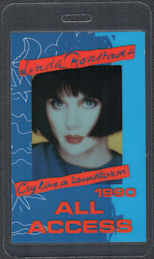 ##MUSICBP0880 - Linda Ronstadt OTTO Laminated All Access Backstage Pass from the Cry Like a Rainstorm Tour