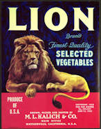 #ZLC324 - Lion Brand Vegetable Crate Label