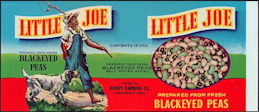#ZLCA221 - Little Joe Fresh Shelled Crowder Pea Label - Black Boy with Dog and Fishing Pole