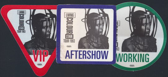 ##MUSICBP0169 - Living Colour OTTO Cloth Backstage Pass From the 1993 Stain Tour - As low as $1.50 each