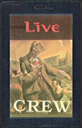 ##MUSICBP0533 - Live Oversized OTTO Laminated Crew Backstage Pass from the Throwing Copper Tour