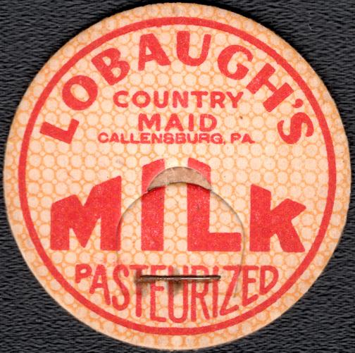 #DC211 - Lobaugh's Pasteurized MIlk Bottle Cap