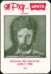##MUSICBP0033  - 1985 Kenny Loggins Radio Promo OTTO Backstage Pass - 98PXY - Levi Advertising