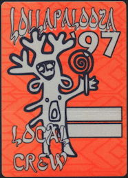 ##MUSICBP0412 - 1997 Lollapalooza OTTO Cloth Backstage Pass - Devo, Korn, Beck
