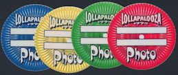 ##MUSICBP0176 - Group of 4 different colored Lollapalooza 1994 OTTO cloth backstage passes