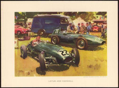 #MS246 - 1958 Lotus and Vanwall Wootton Print