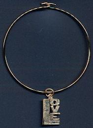 #BEADS0784 - Hippie Era Metal Love Bracelet