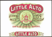 #ZLSC070 - Little Alto Inner Cigar Box Label