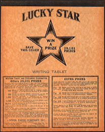#CS142 - Group of three 1946 Lucky Star Pencil Tablets