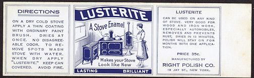 #ZLCA192 - Lusterite Stove Enamel Can Label