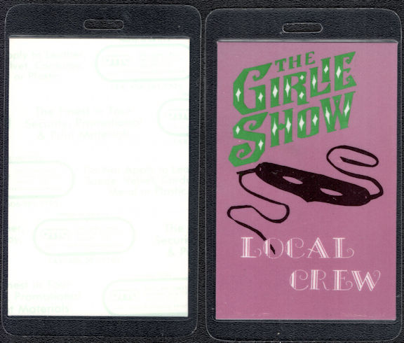 ##MUSICBP0571  - Madonna 1993 The Girlie Show Tour OTTO Laminated Backstage Pass
