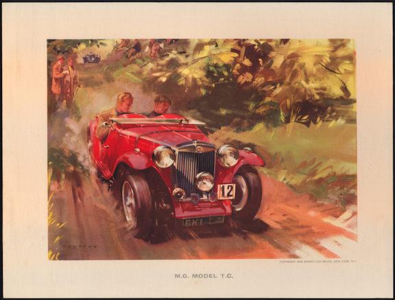 #MS267- 1958 M.G. Model T.C. Wootton Print