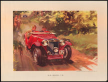 #MS267- 1958 M.G. Model T.C. Wootton Print