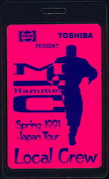 ##MUSICBP0337 - Laminated MC Hammer Backstage Pass from the 1991 Japan Tour