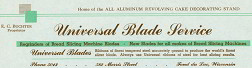 #ZZZ002 - Universal Blade Service Letterhead