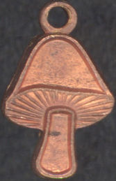 #BEADSC0222 - Copper Plated Hippie Mushroom Charm