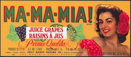 #ZLSG088 - Ma-Ma-Mia! Grape Crate Label - Pretty Girl