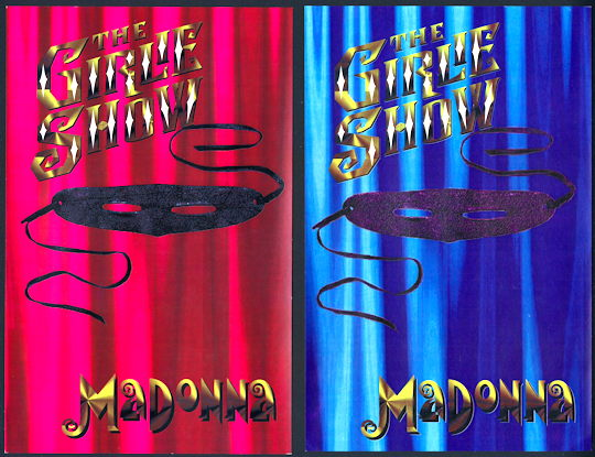 ##MUSICBG0091  -  Pair of Rare Large Madonna OTTO Intinerary Book Labels for the 1993 The Girlie Show Tour