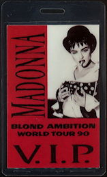 ##MUSICBP0479  - 1990 Madonna T-Bird Laminated Backstage Pass from the Blond Ambition Tour
