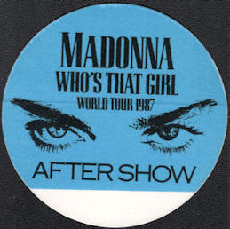 ##MUSICBP0634  - Madonna OTTO Cloth Backstage Pass from the Who's That Girl Tour