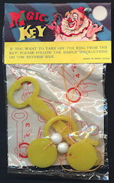 TY785 - Magic Key Trick Picturing Clown - As low as $1 each