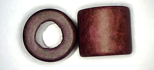 #BEADS0524 - Large Hole Mahogany Colored Ceramic 10mm Hippie Bead - As Low as 10¢ each