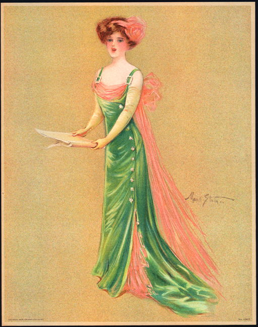 #MS156 - 1909 Victorian Print - Singer