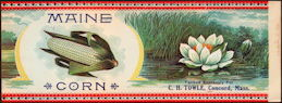 #ZLCA283 - Beautiful Early Maine Corn Can Label - C. H. Towle