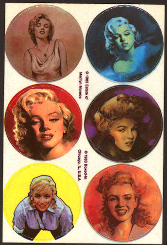 #CH350 - Group of 12 Marilyn Monroe Sticker Sheets Licensed by the Estate
