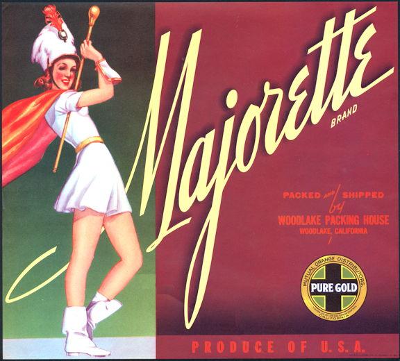 #ZLC357 - Majorette Orange Crate Label